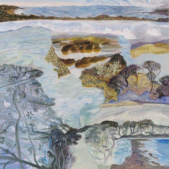 Anna Miles Gallery |Arai te Uru 2013 from Ka ecologies Oil on board 790 x 790mm