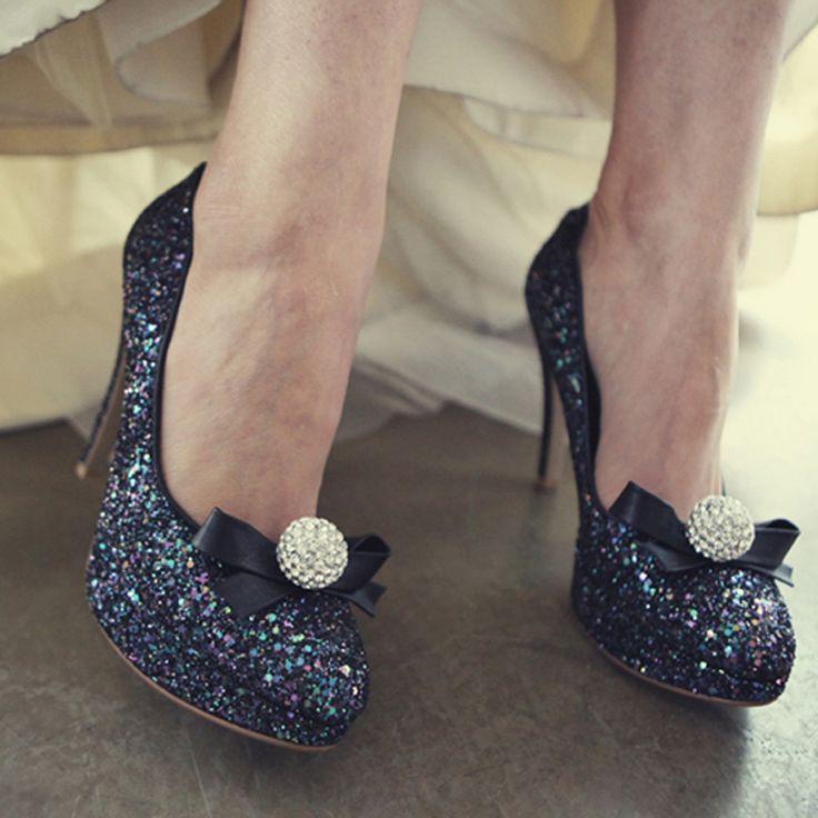 2016 luxus Gold Strass Runde Kappe Braut Heels Prom Kleid Schuhe Abend und Hochzeit Schuhe für Frauen //Price: $US $88.26 & FREE Shipping //     #abendkleider