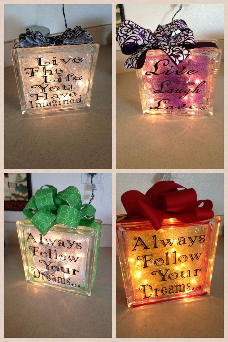 More glass blocks I made! & 468 best Crafty LIGHTED GLASS BLOCKS images on Pinterest | Glass ...