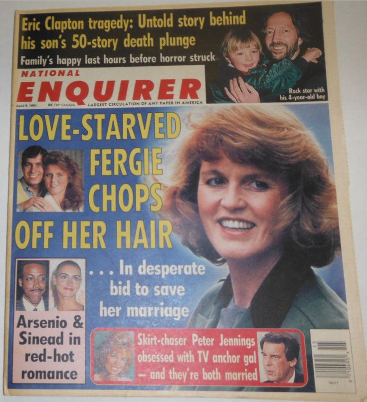 National Enquirer Magazine April 1991 SARAH FERGUSON