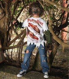 werewolf boys costume - Beware of full moons! They turn your son into this creepy half boy-half beast.