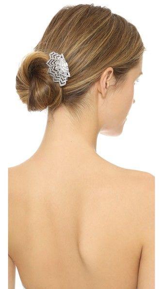 Ben-Amun Crystal Web Hair Comb. Faceted Swarovski crystals accent this baroque Ben-Amun hair comb.