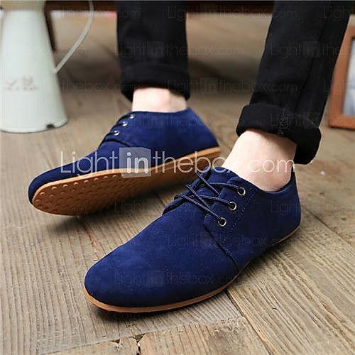 Zapatos grises de verano de punta redonda formales para hombre S6ng7HCG