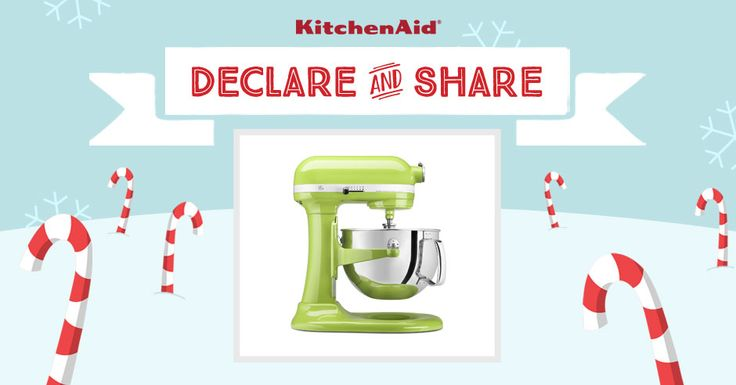 KitchenAid Pro 600® Stand Mixer in Green Apple! Declare & Share the KitchenAid small appliance on your wish list, and you could win it! http://declareandshare.ca/