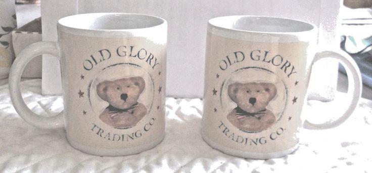 Bear Mug Old Glory Trading Co Houston Harvest      eBay