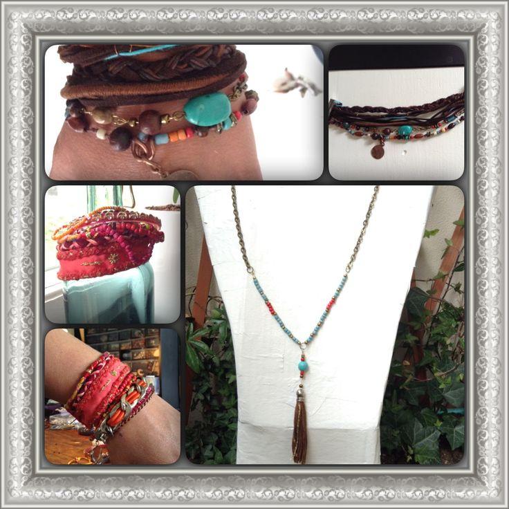 Boho, gypsie, man, bracelet, turquoise, leather, beads, DIY, jewellery, neclace, tassels,  Male, halsband, armband, läder, turkos, tofs, pärlor, smycken, män, herr