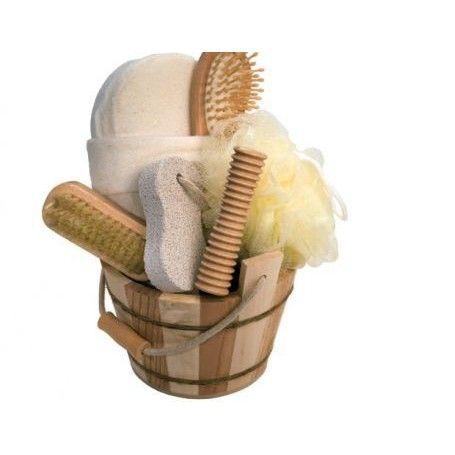 Heerlijke bamboe badkamer producten.