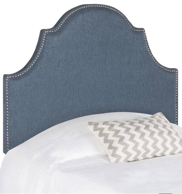 Connery Arched Twin Size Headboard with Nail Head Trim in Blue - LOW STOCK, ORDER NOW!