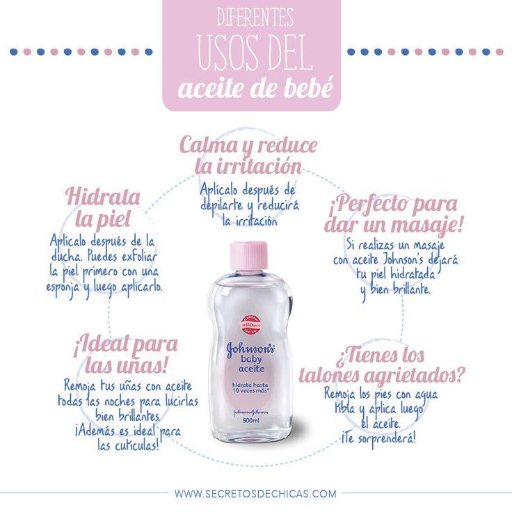 Diferentes usos del aceite de bebé