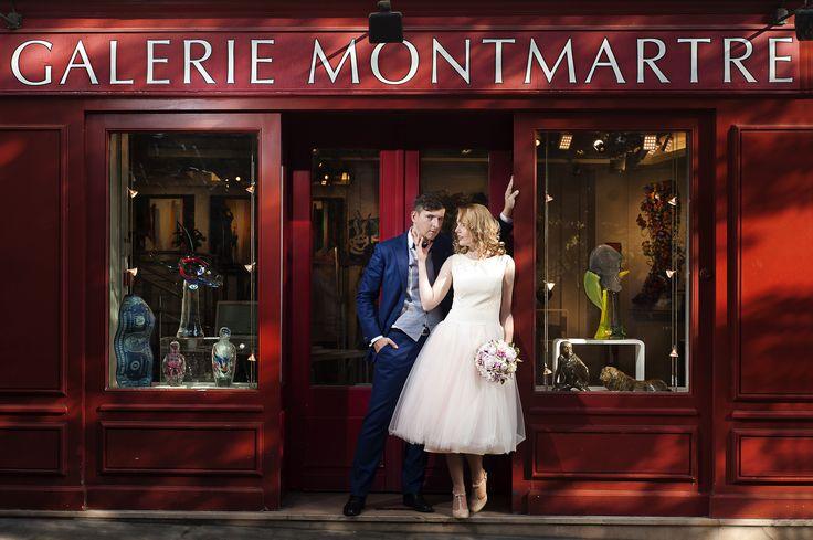 Montmartre - Paryż - Francja : plenerowa sesja ślubna / www.grzegorzpytel.com