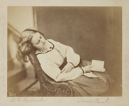 'Sweet Slumber', c.1860, Oscar Gustave Rejlander, The Royal Photographic Society Collection, National Media Museum / SSPL