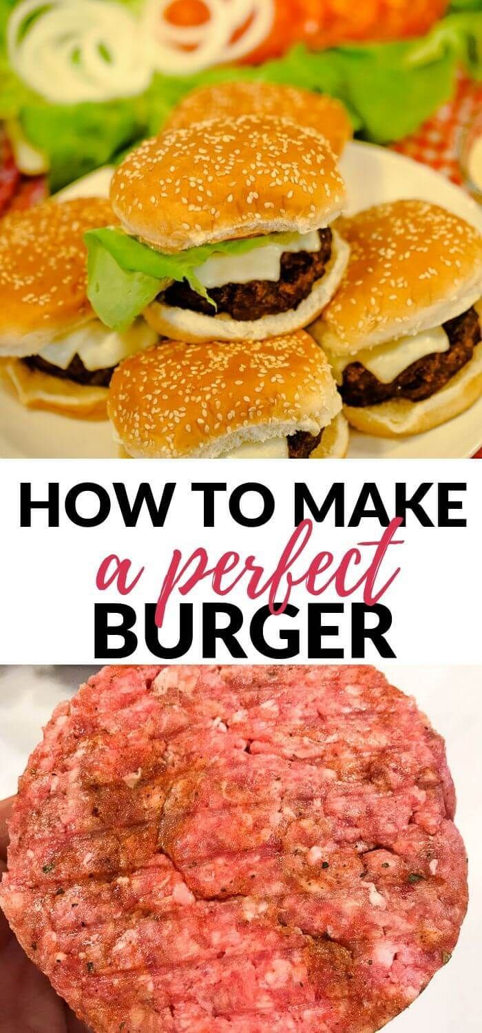 Take Your Burgers From Boring To Amazing With This Perfect Homemade Burger Recipe It S Just The Right Co With Images Homemade Burgers Homemade Burger Recipe Cookout Food