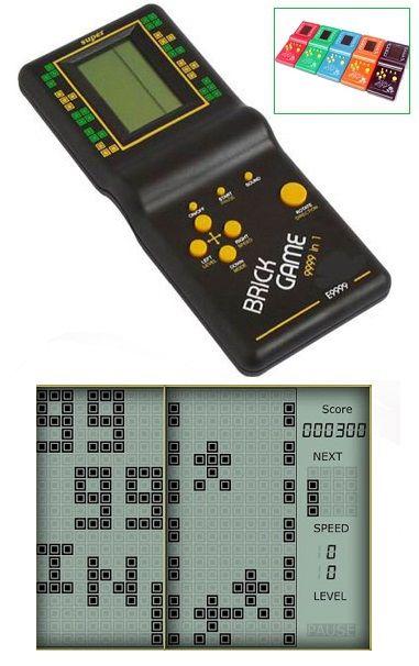 Brick Game LCD videó játék 9999 in 1. Tetrisz és más hasonló, klasszikus videó játékokkal. Ha az egyiket megunod, akkor csak egy pillanat és...