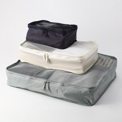 Muji Packing Cubes via @rtwgirl || So necessary for packing. I won't ever go back to packing for a trip without cubes http://www.rtwgirl.com/rtw-packing-list/