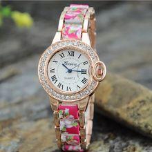 2015 Hot Sale da moda senhoras vestido relógios mulheres relógio de aço inoxidável e resina pulseira de pulso marca de relógio feminino(China (Mainland))