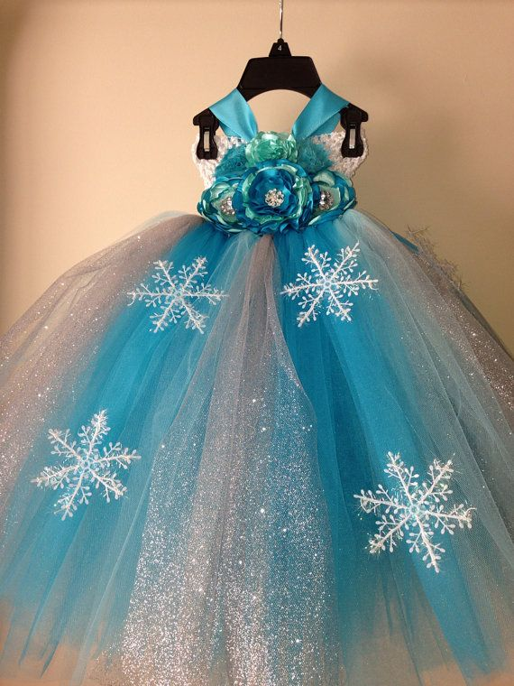 Snow Queen Elsa inspired tutu dress and by LittledreamsbyMayra