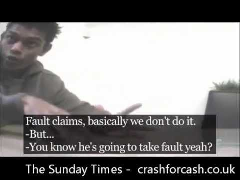 The Sundays Times reporting on a crash for cash insurance scam he Sunday Times Newspaper were able to film undercover footage relating to a person arranging for their car to be crashed and a bogus insurance claim completed.