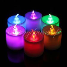 LED Color Chang Flicker Flickering Flameless Battery Electronic Candle Tea Light....perfect for flower arrangements
