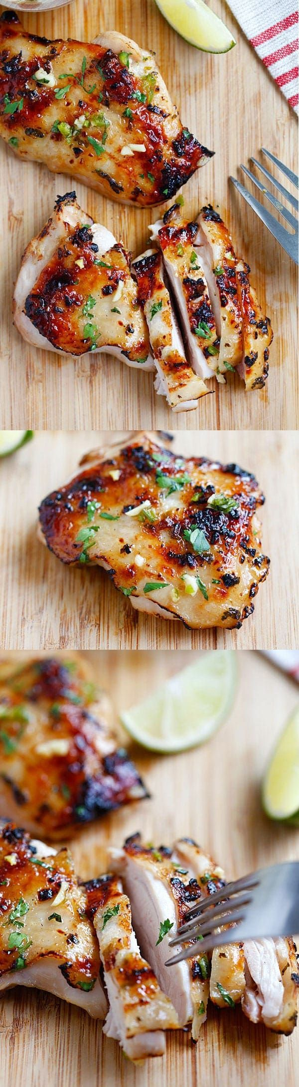 Chili lime chicken - moist and delicious chicken marinated with chili and lime and grill to perfection. Easy recipe that takes 30 mins! | rasamalaysia.com