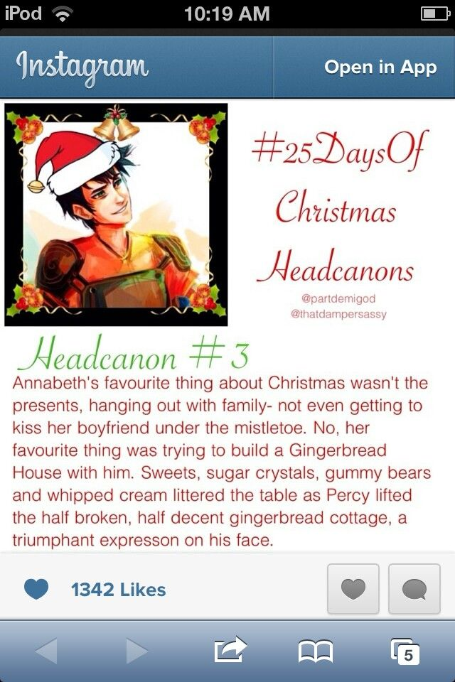 Annabeth grinned and held up her amazing gingerbread creation..