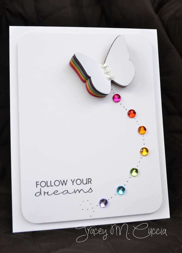 Awesome rainbow card! Love the colors under the butterfly I need to make this for my butterfly sister!
