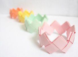 Do it yourself : des bracelets en origami on Etsy - Instructions provided
