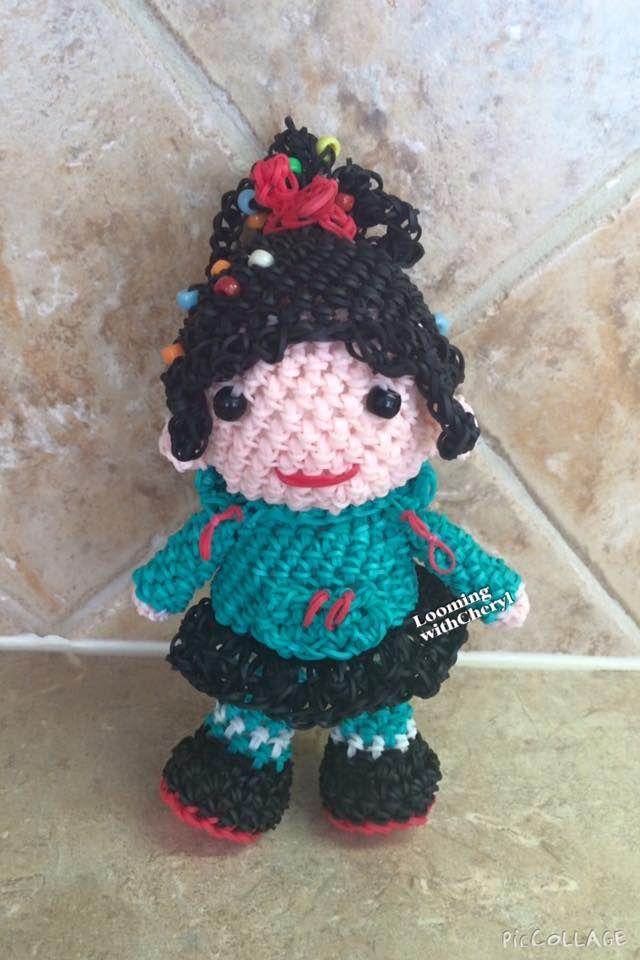 Amigurumi Lalylala : Vanellope Von Schweetz Doll. Looming WithCheryl ...