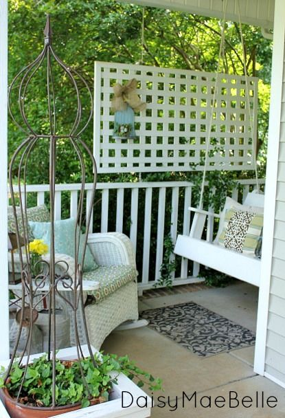 165 best lattice projects images on pinterest balconies for Decorating outdoor lattice