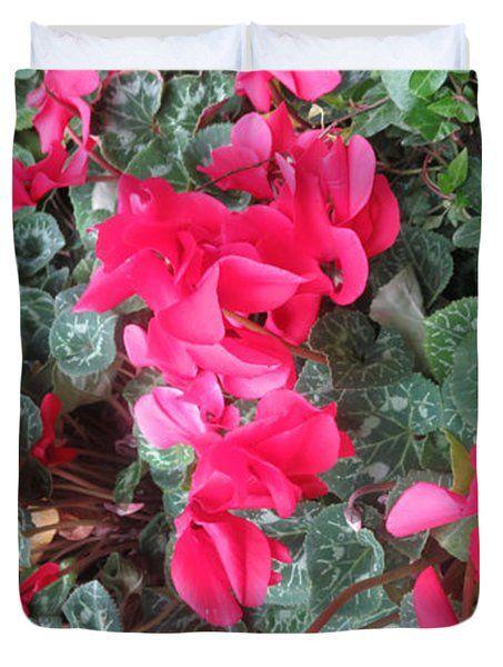 BUTTERFLY Garden Red Exotic Flowers Las Vegas Duvet Cover by NAVIN JOSHI