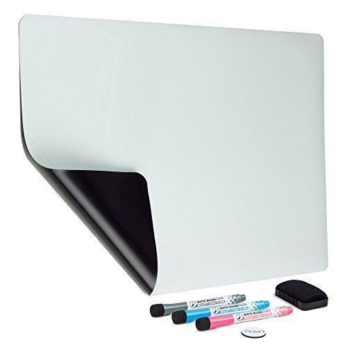 Magnetic Dry Erase Board Whiteboard Sheet 3 Markers Eraser Refrigerator Message #YES4QUALITY