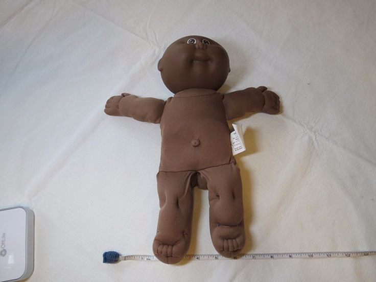 Black African American Cabbage Patch Doll Kids 1985 vintage signed bald baby  #CabbagePatchKids #Dolls