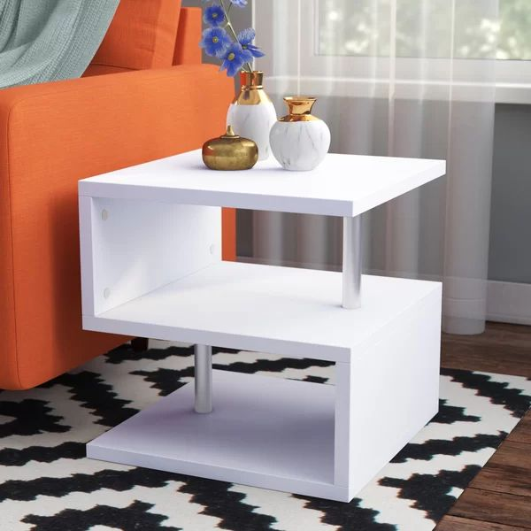 Mote Floor Shelf End Table With Storage Entertainment Center End Tables With Storage Furniture