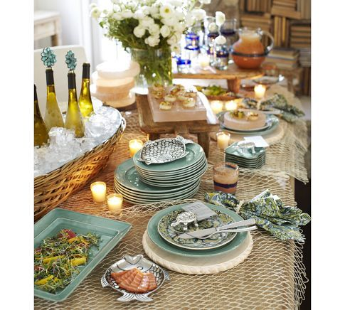 Ocean Themed Dinner Party Using Cambria Dinnerware By The Pottery Barn 2012
