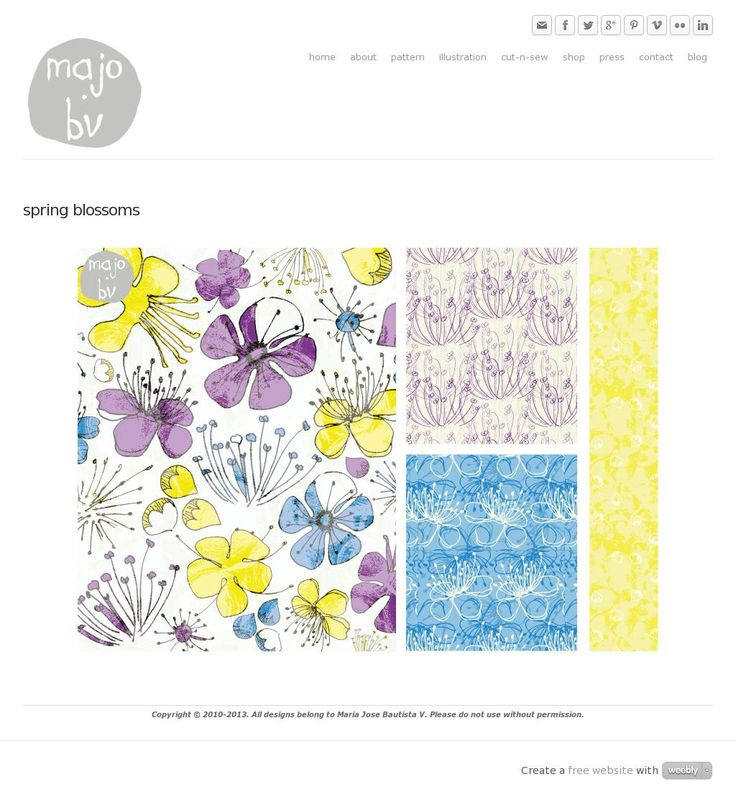 Spring Blossoms by ©MaJoBV http://www.majobv.com/spring-blossoms.html :: pattern :: floral