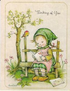Vintage Christian Greeting Card by Anne Liese, Thinking of You