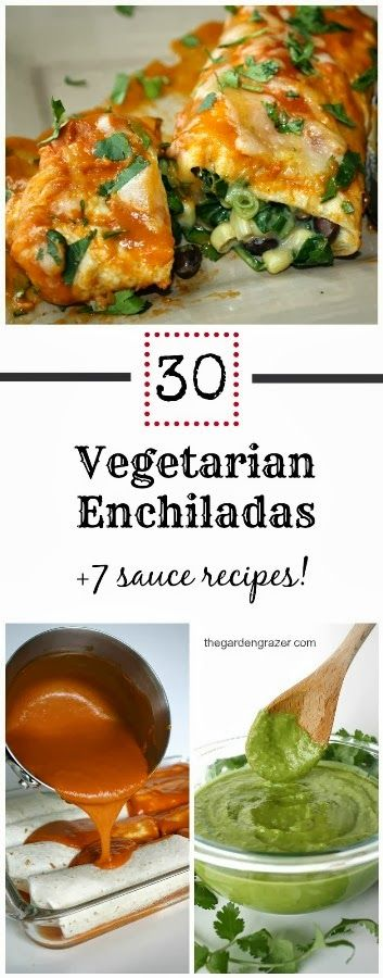 30 mouthwatering vegetarian enchilada recipes + 7 homemade sauces!