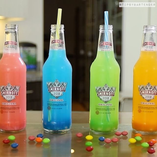 Smirnoff Ice Skittles Bomb  #drinks #cocktails #skittles #smirnoff #party #fun