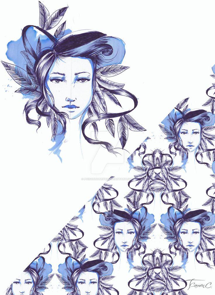 FACE quik-illustration handdraw-photoshopedit by PoisonHoney92 on DeviantArt