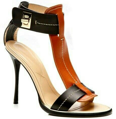 2f10f686991 Black and Curry Calf T-Strap Twist Lock Sandal by Nicholas Kirkwood for  Preorder on Moda Operandi