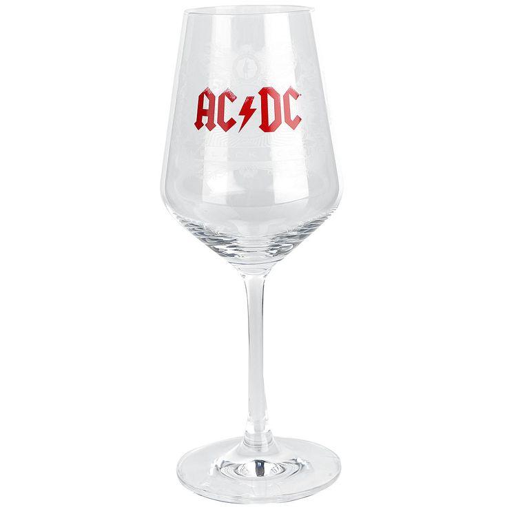 """Calice da vino """"Black Ice"""" degli #ACDC con il tipico logo della band."""