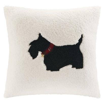 "Threshold 18x18"" Scottie Dog Pillow - Red"