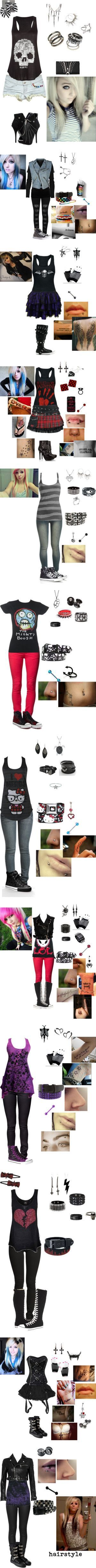 """""""Emo / gothic clothes Part 4"""" by foreverbroken ❤ liked on Polyvore - jessi's basic wardrobe she wishes #EmoFashion"""