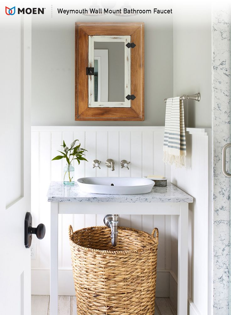 Make a bold statement with the Victorianinspired style of the Moen Weymouth bathroom faucet.