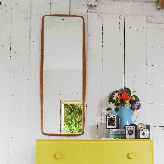 Vintage Wall Mirror Danish Teak Mirror #CaVEtsy