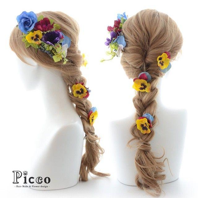Gallery 105  New Arrival!!! Rapunzel Style Hair Accesory #byPicco  #人気 の #ラプンツェル #スタイル #パンジー が #キュート な #カラフル #アレンジ #髪飾り #ホームページ にて #近日公開 #予定 #結婚式 #成人式 #卒業式 #ドレス #パーティー #イベント に  #custommade #original #hairdo #disney #ブライダル #ウェディング #花嫁 #ヘアアレンジ #オリジナル #ディズニー #picco #ピッコ