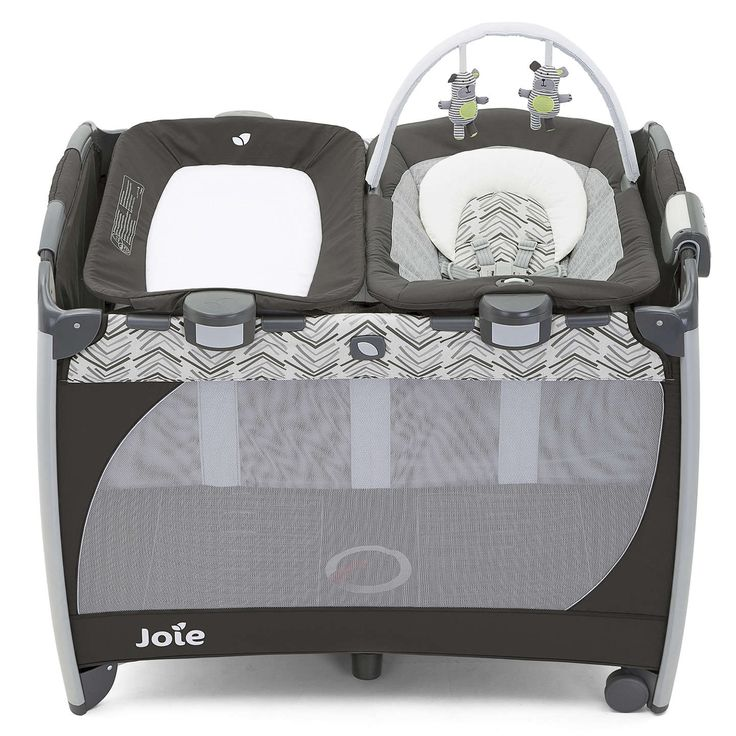 BuyJoie Excursion Change & Bounce Travel Cot, Grey Online at johnlewis.com