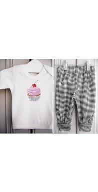 Completo english stile, t-shirt maniche corte, pantaloni a quadrettini ... LOVELY!!!!