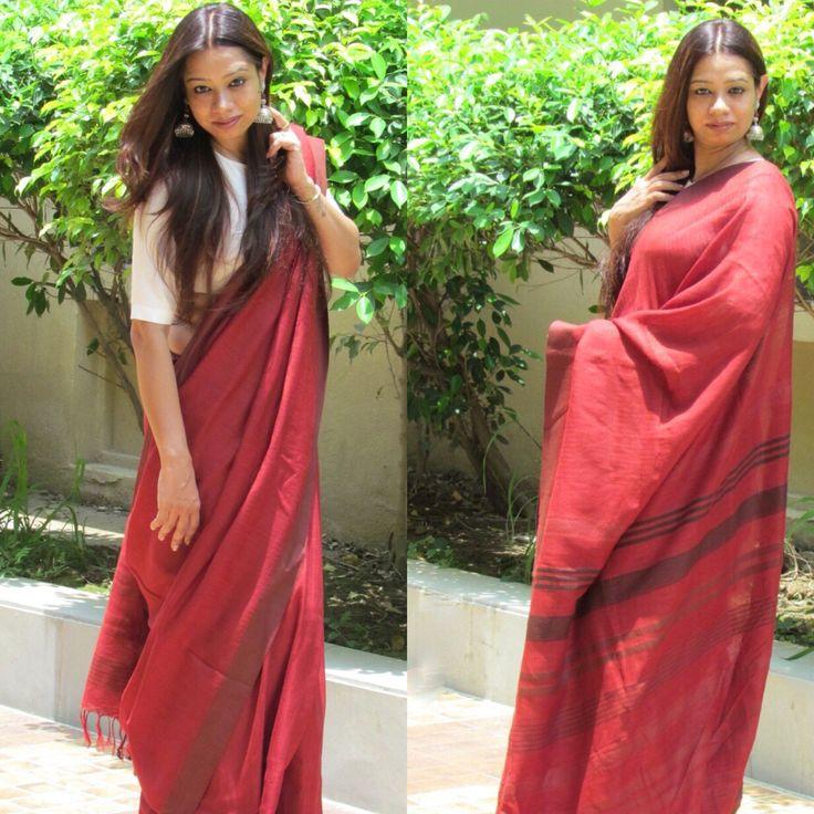#Saree #Linen
