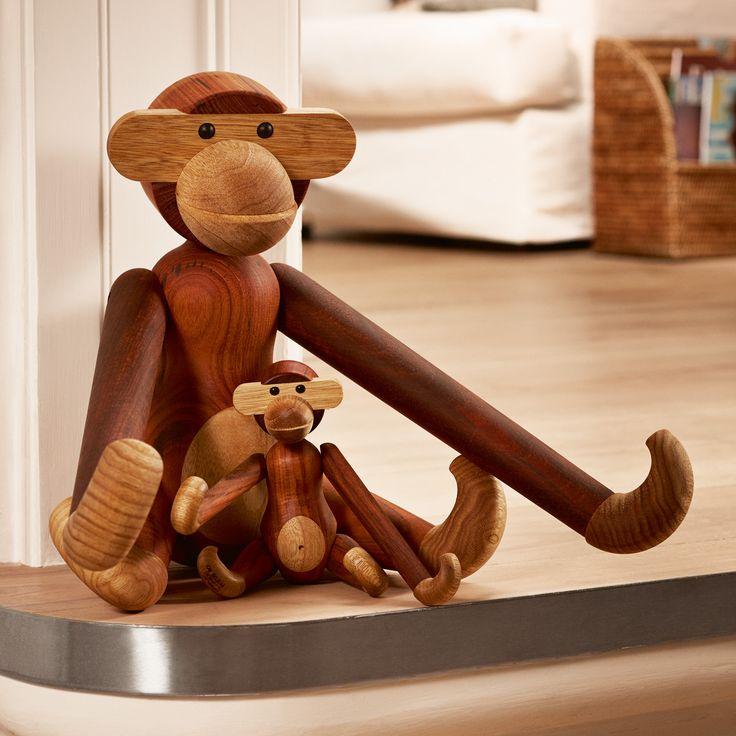 #design3000 Holzfigur Affe aus Teak und Limba hergestellt. #kaybojesen