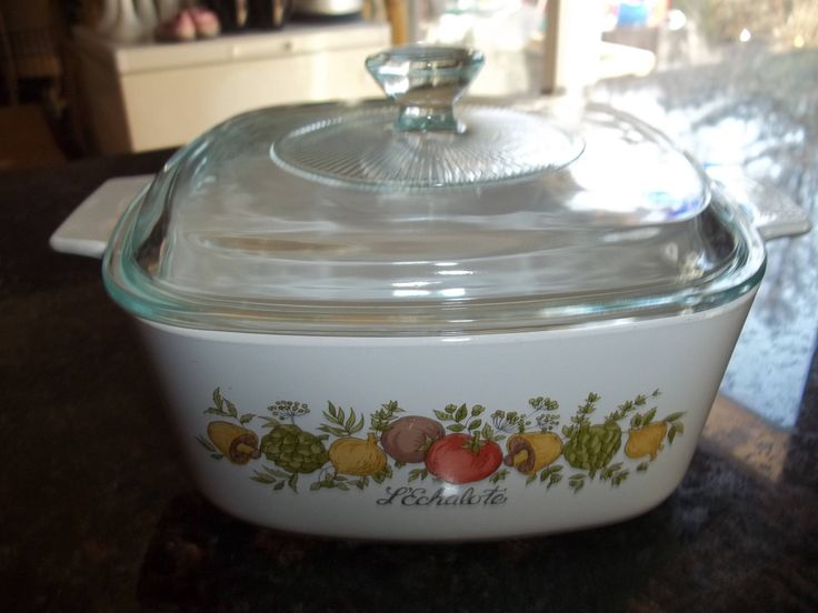 Spice of Life , Corning Ware A-1 1/2-B,  1 1/2 Quart Casserole Dish with Pyrex Lid by PyrexKitchen on Etsy